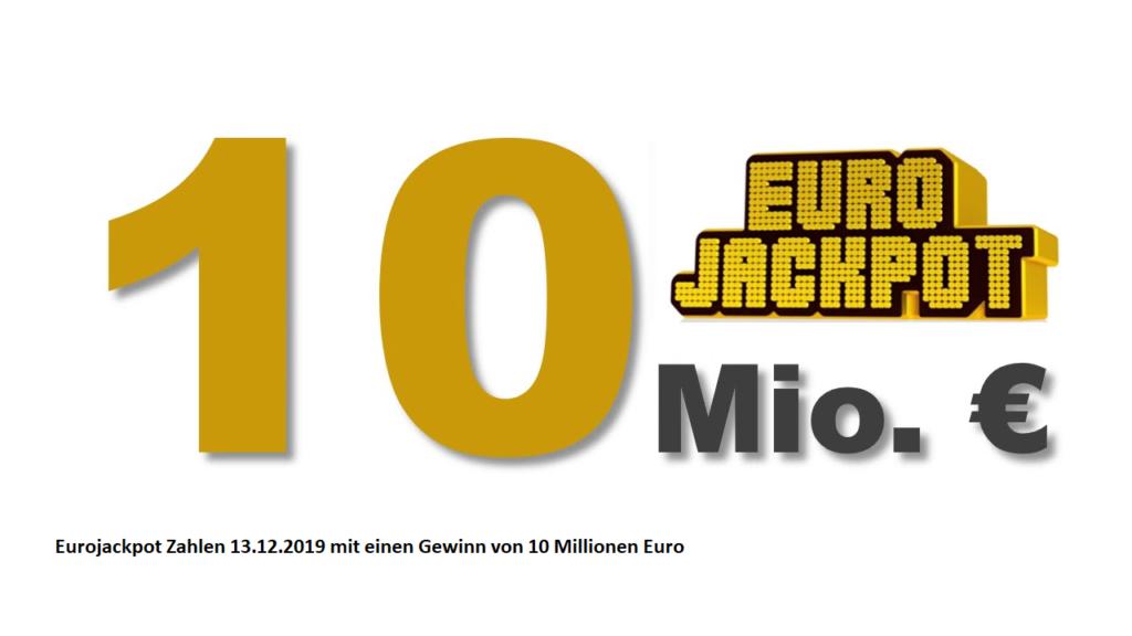 Eurojackpot Zahlen 13.12.2019