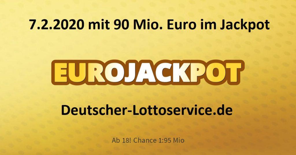 Eurojackpot am 7.2.2020